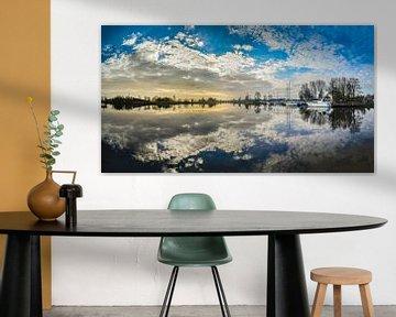 Panorama Vecht Sunrise - Weesp in Beeld van Joris van Kesteren