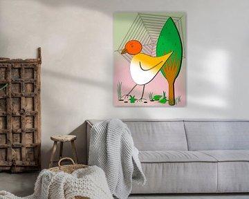 Kinderzimmerbild  -  Vogel von Roswitha Lorz
