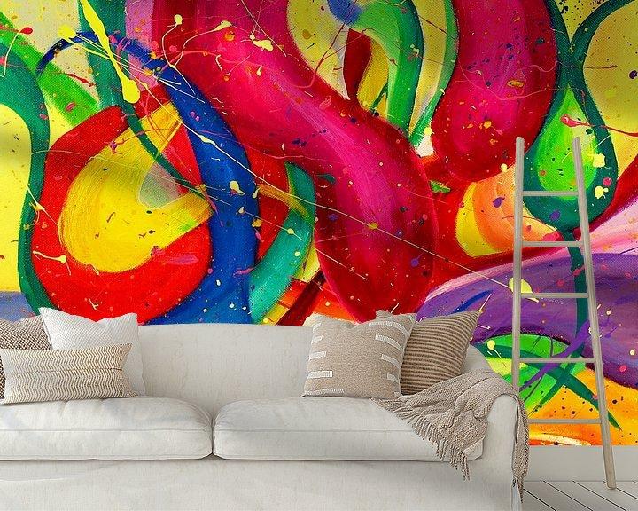 Sfeerimpressie behang: Abstract 10 van Julia Apostolova