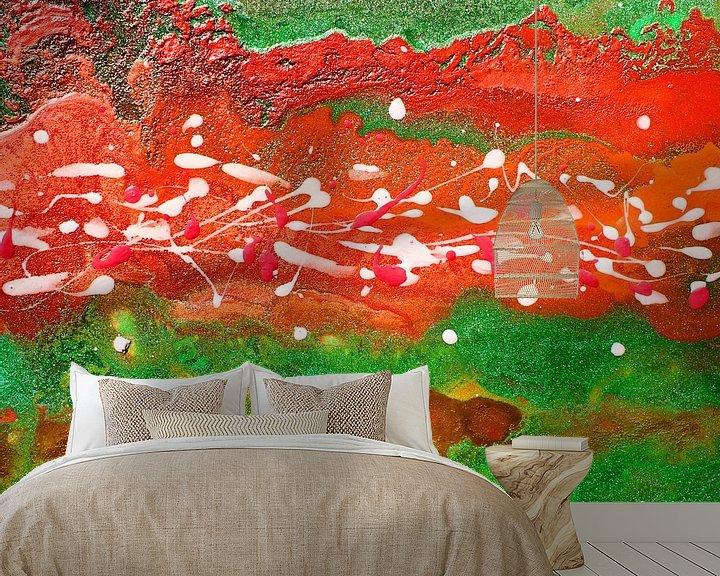 Sfeerimpressie behang: Abstract 11 van Julia Apostolova