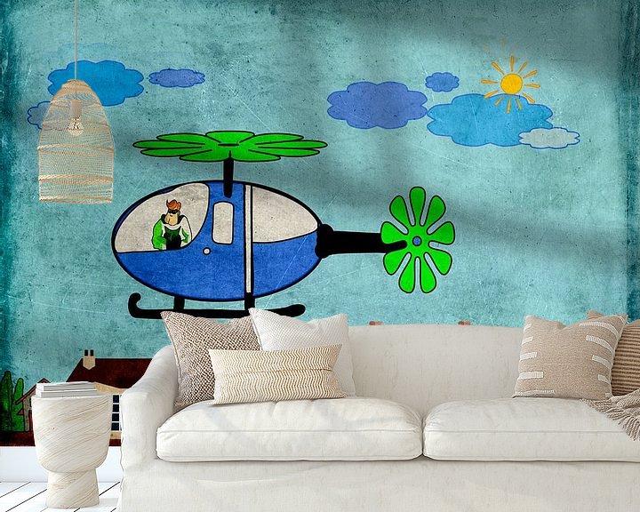 Beispiel fototapete: Kinderzimmerbild  -  Hubschrauber von Roswitha Lorz