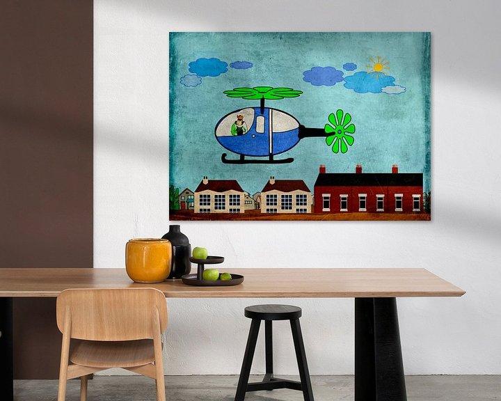 Beispiel: Kinderzimmerbild  -  Hubschrauber von Roswitha Lorz