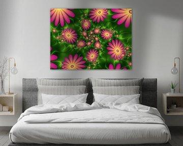 Leuchtende Blumenfantasie von gabiw Art