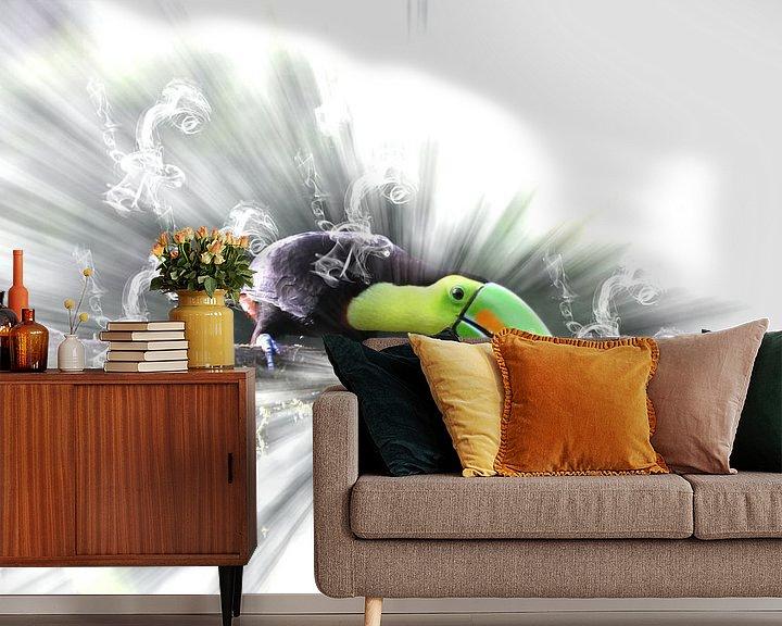 Sfeerimpressie behang: In the rainforest van Ursula Di Chito