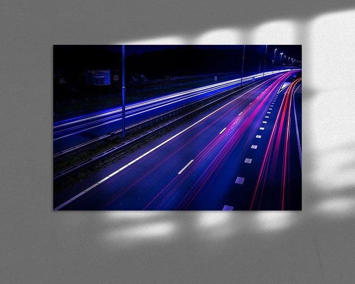 Sfeerimpressie: Night Traffic van Mario Kuijpers