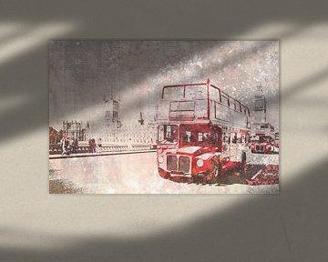 City-Art London Red Buses von Melanie Viola