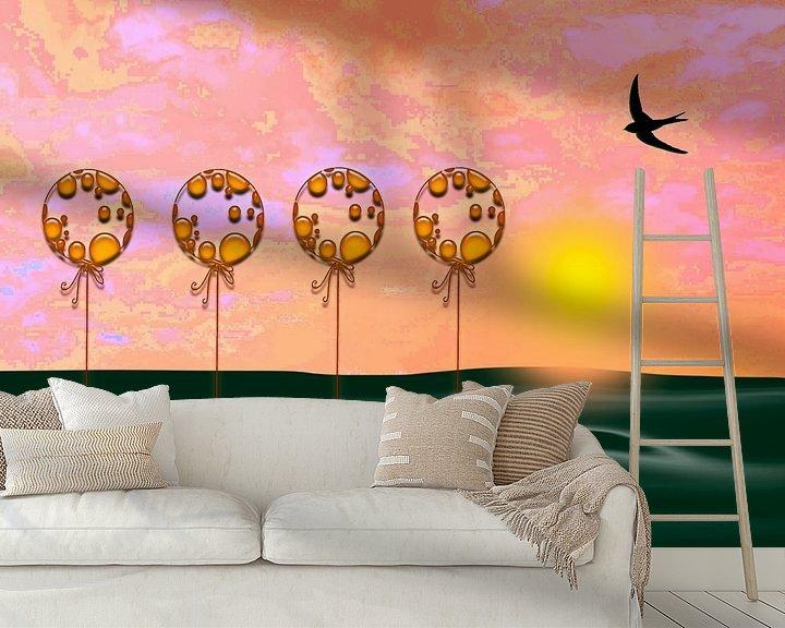 Beispiel fototapete: Untergehende Sonne von Roswitha Lorz