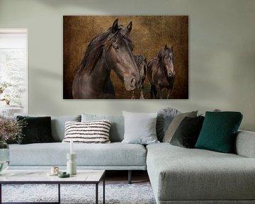 digital art van Wilde paarden van eric van der eijk