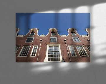 Eine Reihe von Giebeln in Weteringstraat in Amsterdam. von Don Fonzarelli