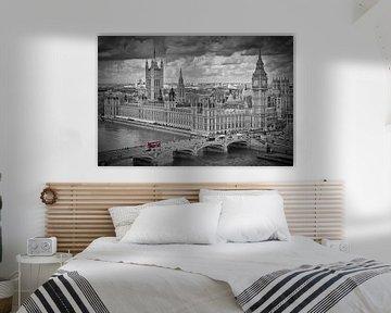 London - Westminster black & white von Melanie Viola