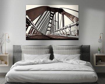 De Schuine brug van Leiden von Ernst van Voorst