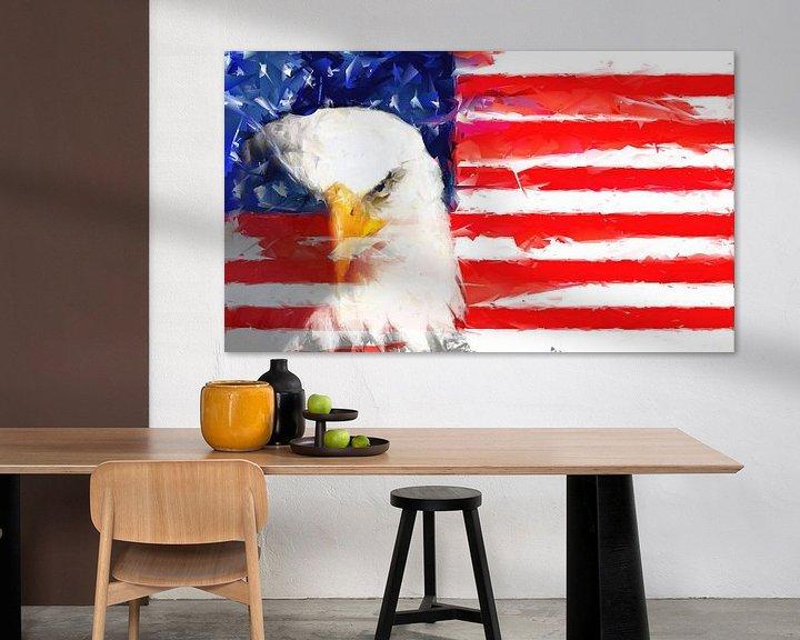Beispiel: USA Flagge und Adler von Brian Raggatt