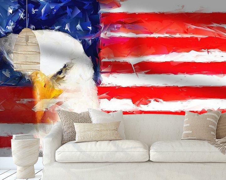 Beispiel fototapete: USA Flagge und Adler von Brian Raggatt