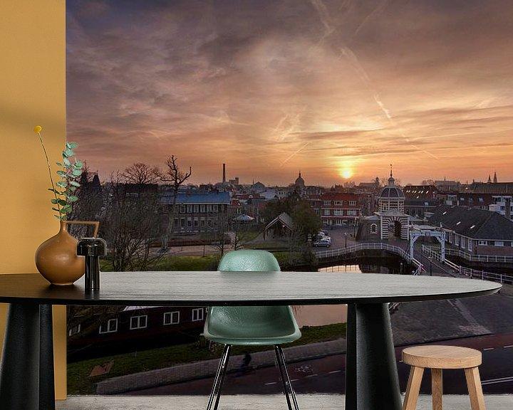 Beispiel fototapete: Zonsopkomst boven Leiden von Martijn van der Nat