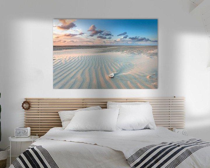 Sfeerimpressie: Avondlicht over het strand van Terschelling - Sunset at the beach Terschelling van Jurjen Veerman