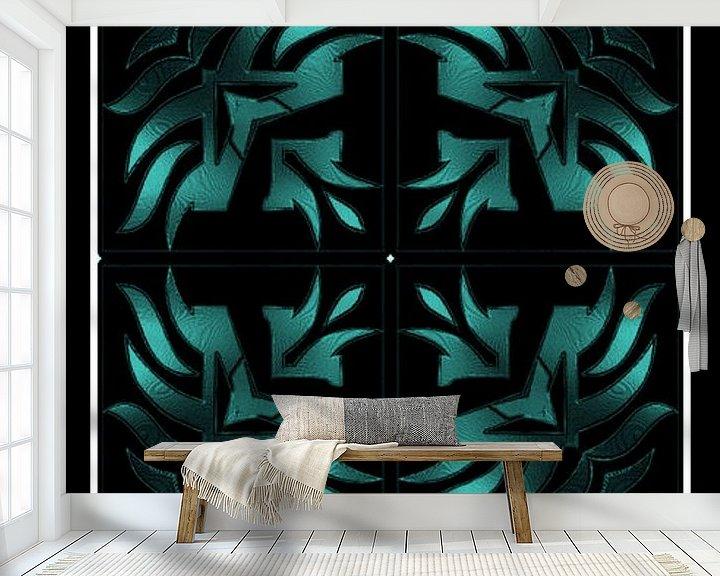 Beispiel fototapete: Turquoise Tribal Dream von Nicky`s Prints