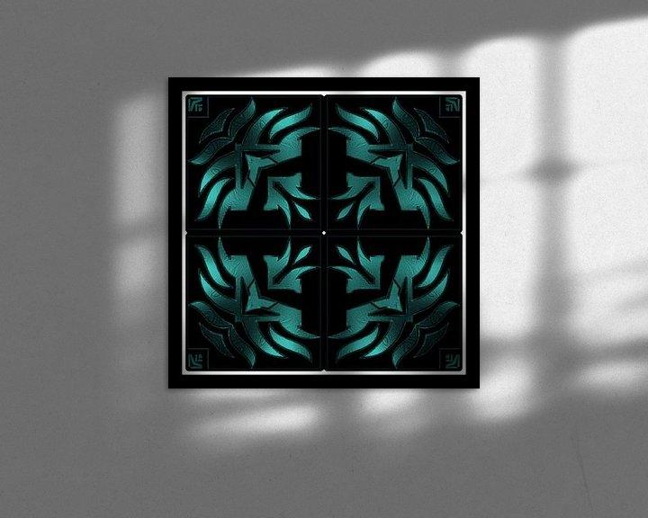 Beispiel: Turquoise Tribal Dream von Nicky`s Prints