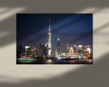 Shanghai Skyline von Norma Jesse