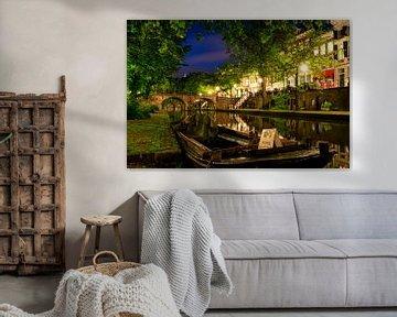Utrecht Oudegracht: bij Geertebrug van Martien Janssen