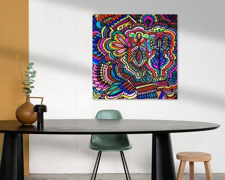 Beispiel: Tribal Decorative Color Zentangle von Rhonda Clapprood