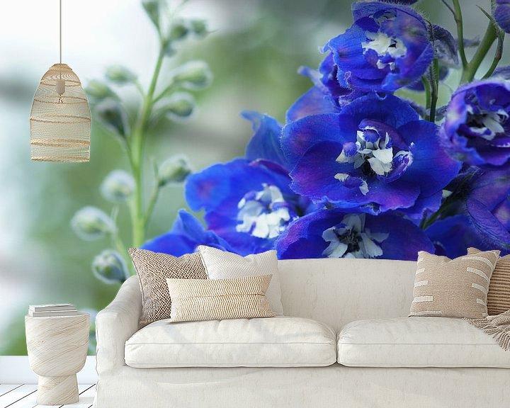 Sfeerimpressie behang: Summer blue van Carla Mesken-Dijkhoff