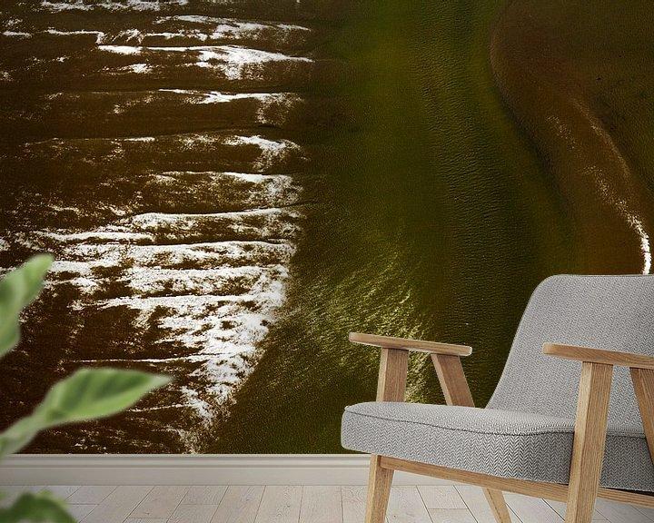Sfeerimpressie behang: Mysterieus Wad (9) van Meindert van Dijk