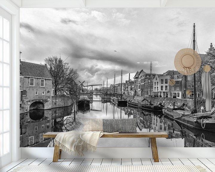 Sfeerimpressie behang: Delfshaven. van Don Fonzarelli