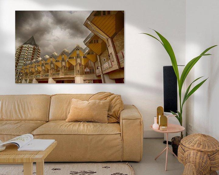 Sfeerimpressie: De Kubuswoningen in Rotterdam. van Don Fonzarelli