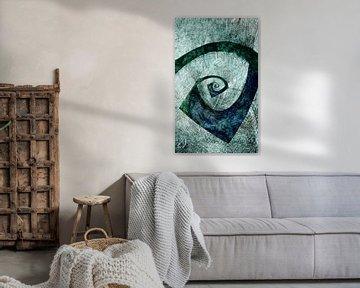 Abstrakte Spirale van Roswitha Lorz