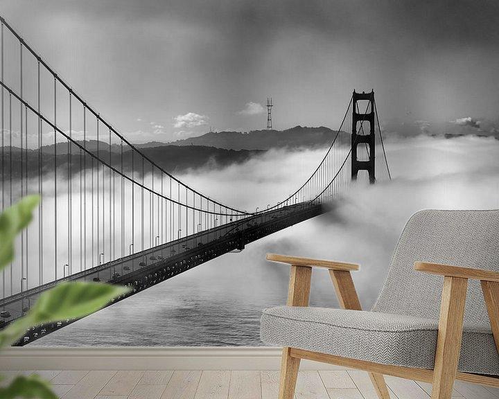 Sfeerimpressie behang: Crossing into San Francisco van Wim Slootweg