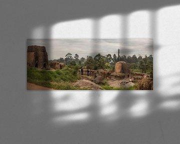 Bakstenen bakken in Afrika