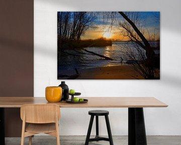 Sunrise at River Beach van Leo Huijzer