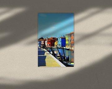 Gekleurde huizen in Burano van Thomas Bellens