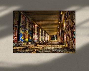 Graffiti langs het Spoor van Kei(stad) Donker