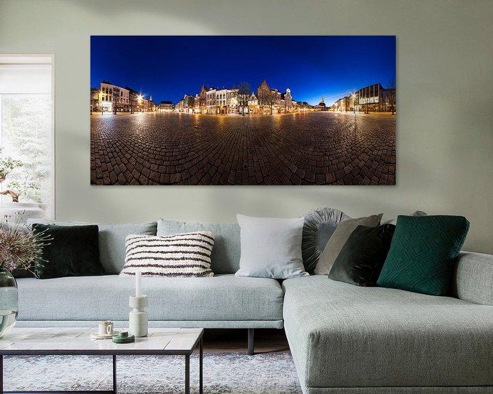 Sfeerimpressie: Vismarkt bij Avond (panorama) van Frenk Volt