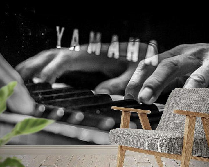 Beispiel fototapete: Piano Playing von Margriet Cloudt