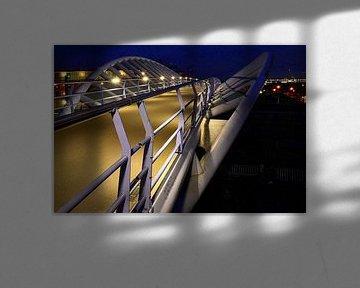 Fietsbrug Houten Zuid, van Het Spoor naar De Bouw. von Margreet van Beusichem