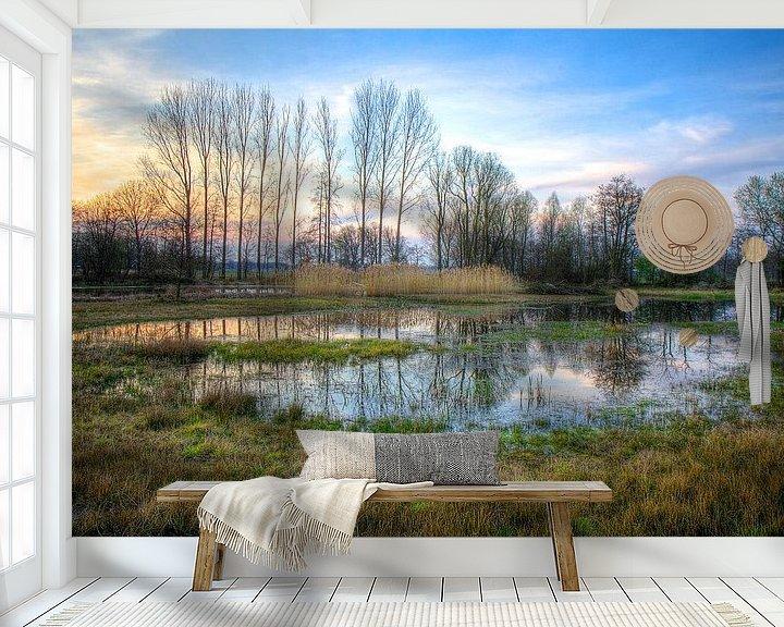 Sfeerimpressie behang: Beekbergerwoud van Robbie Veldwijk