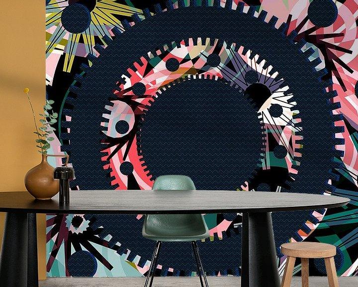 Sfeerimpressie behang: Pattern-9b van Pia Schneider