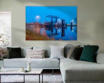 Bloemhofbrug over het Eemskanaal bij Overschild van Richard Janssen