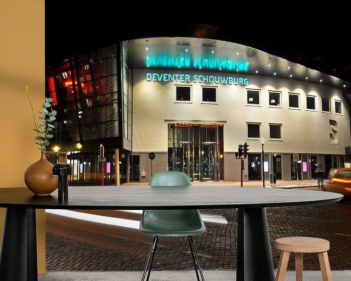 Beispiel fototapete: Schouwburg Deventer - nachtopname von Arjan Penning