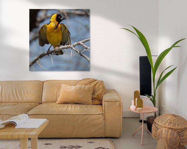 Sfeerimpressie: yellow bird van Anne-Marie Vermaat