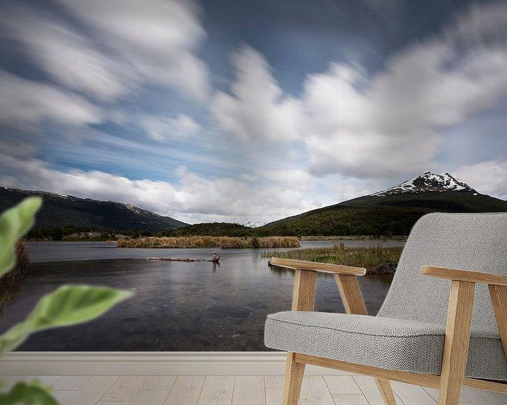 Sfeerimpressie behang: Lago del Roca van Ellen van Drunen