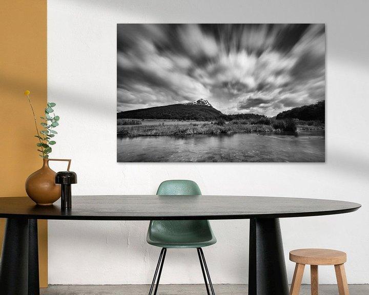 Sfeerimpressie: Lago del Roca in zwart wit van Ellen van Drunen