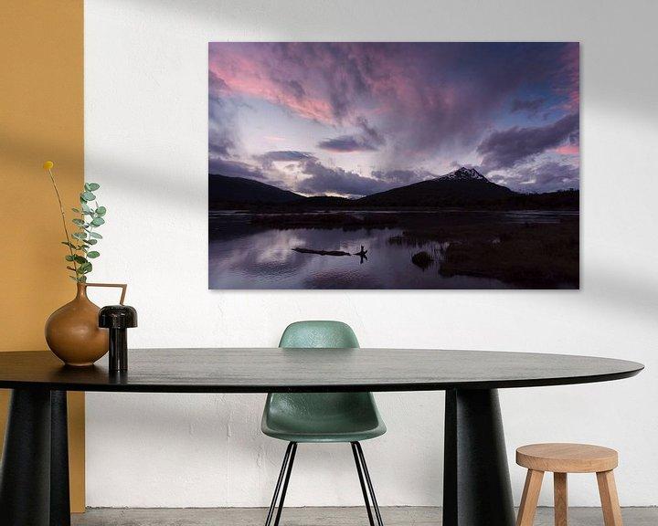 Sfeerimpressie: Zonsondergang in Tierra del Fuego van Ellen van Drunen