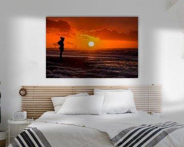 Sonnenuntergang am Zuiderstrand Den Haag von Rob Kints