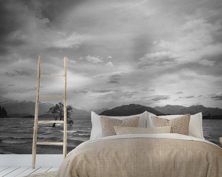 Sfeerimpressie behang: Het meer van Wanaka van Jasper van der Meij