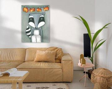 Wasbeer  - Kunst voor Kinderen van Atelier BuntePunkt