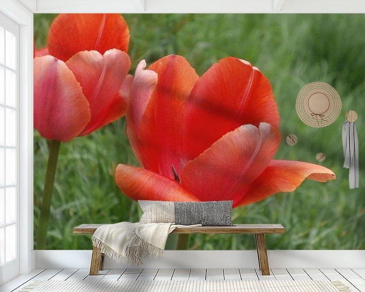 Sfeerimpressie behang: Simply Red van Jon Houkes