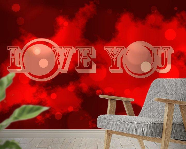 Beispiel fototapete: love you von sarp demirel